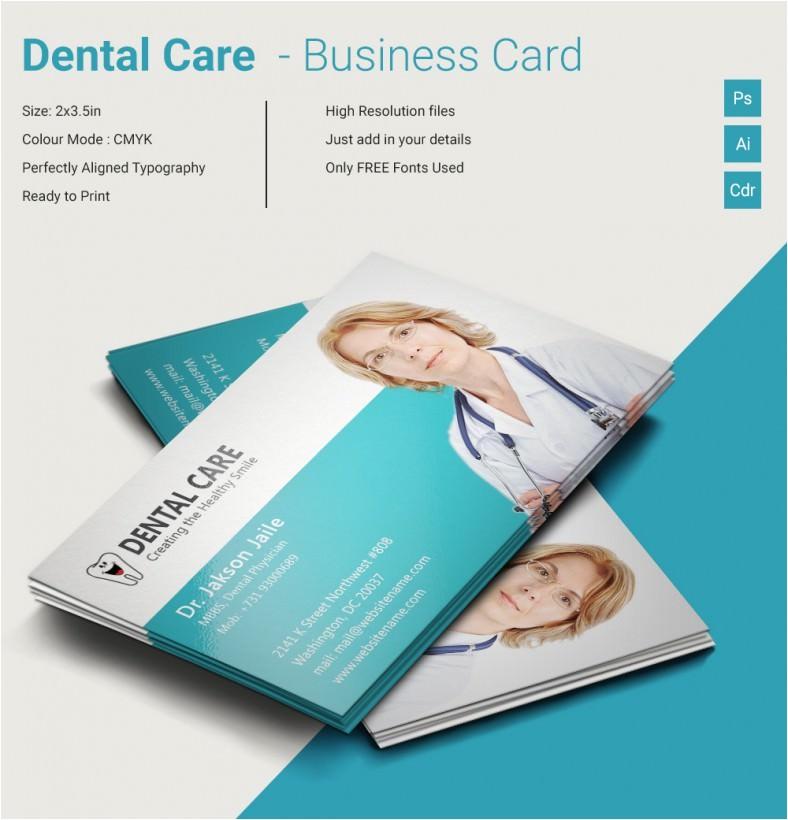 creative dental care business card template