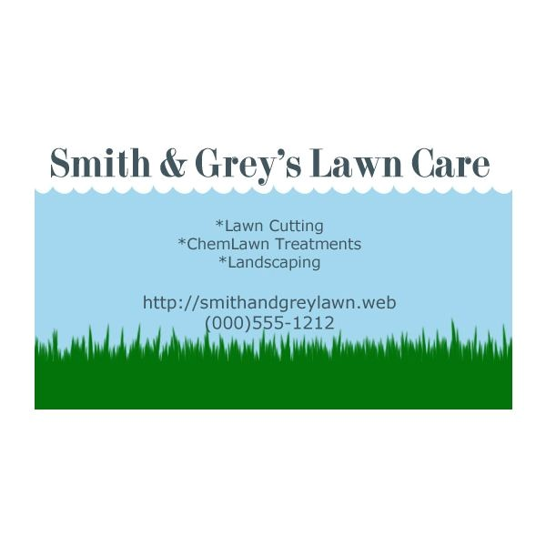 lawn care business card templates free