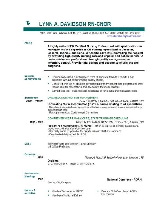 Free Nursing Resume Template Nursing Resume Templates Easyjob Easyjob