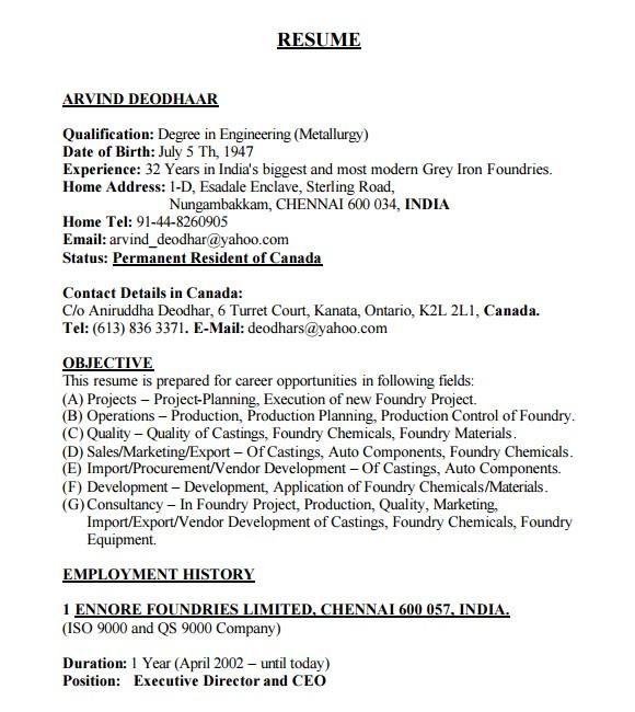 Free Pdf Resume Template 10 Automobile Resume Templates Free Pdf Word Samples