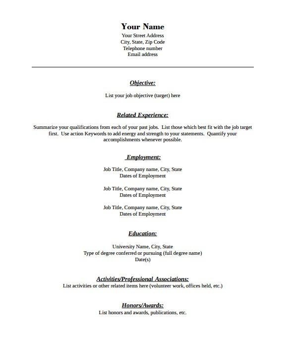 Free Pdf Resume Templates 46 Blank Resume Templates Doc Pdf Free Premium