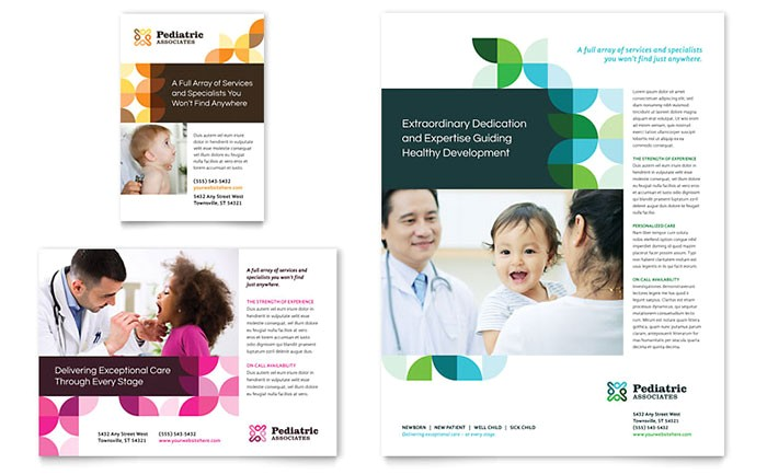 pediatric doctor flyer ad template design md0440701