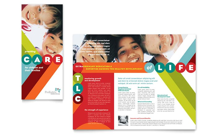pediatrician child care brochure template design md0100101