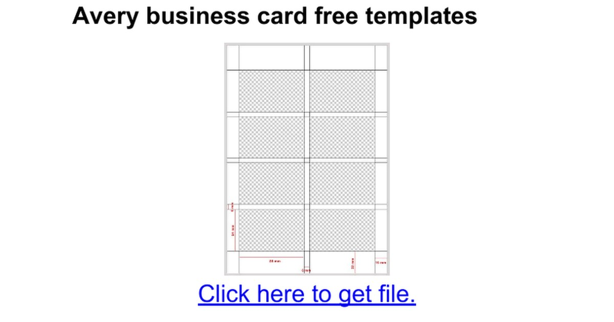business card templates avery 28877