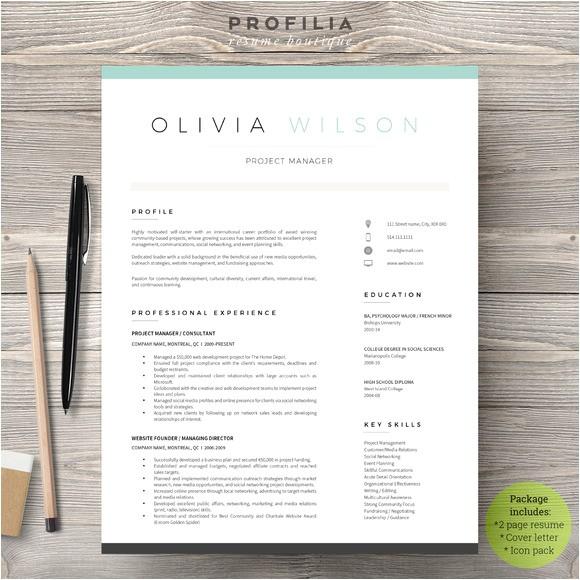 minimal creative resume templates
