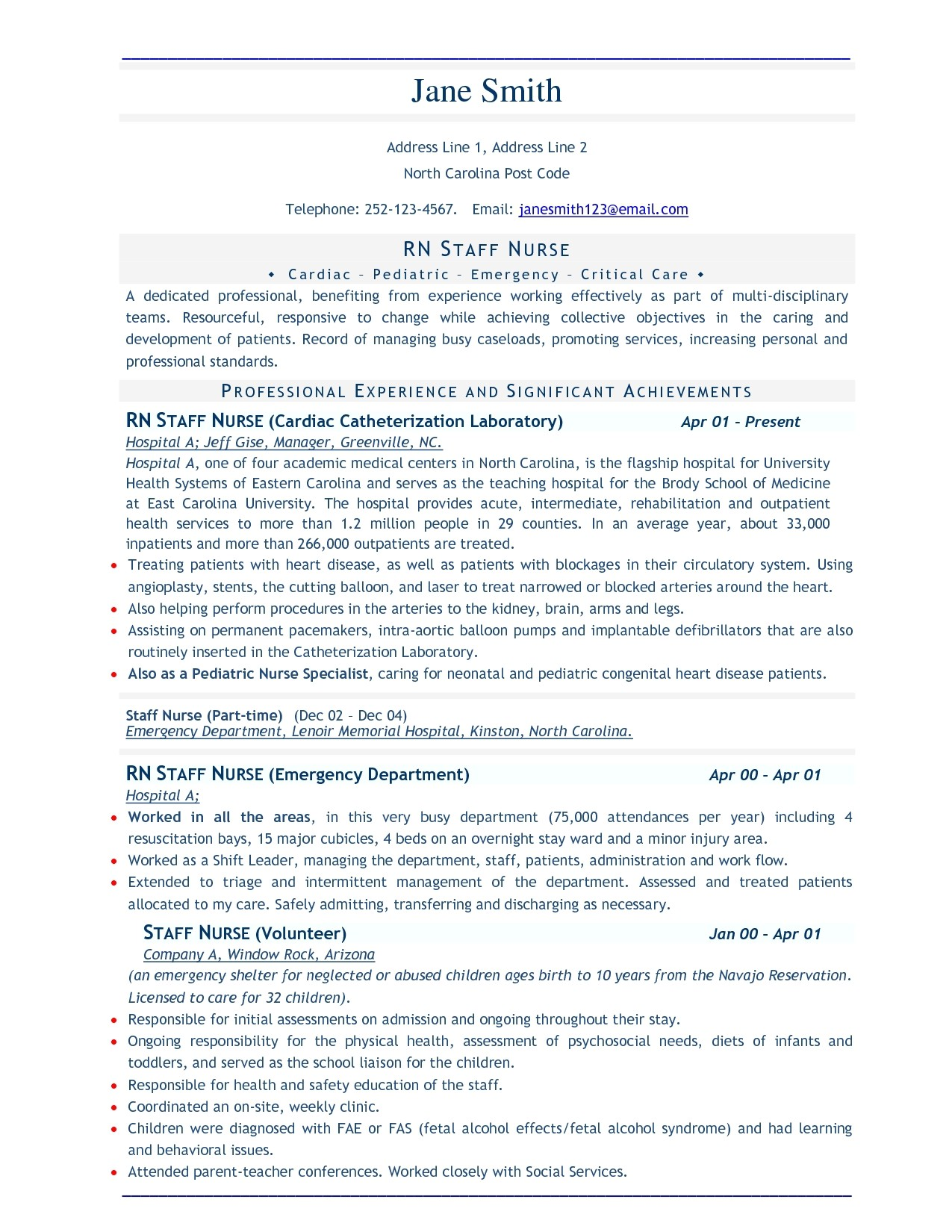 Free Professional Resume Examples and Samples Download Professional Resume Template Sample Resume