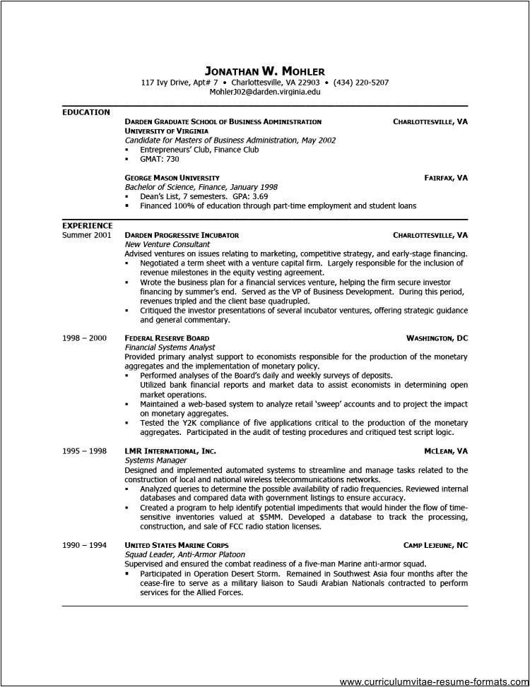 free professional resume template downloads
