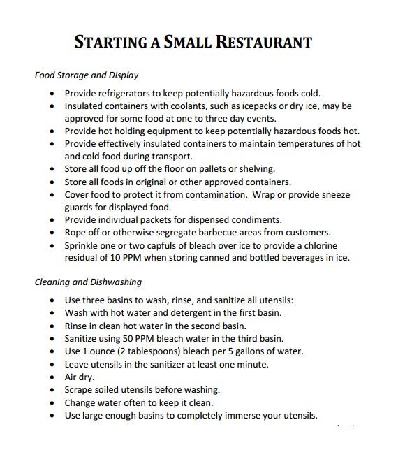 Free Restaurant Business Plan Template Word 32 Free Restaurant Business Plan Templates In Word Excel Pdf
