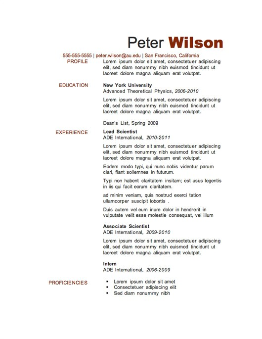 Free Resume Downloadable Templates 12 Resume Templates for Microsoft Word Free Download Primer