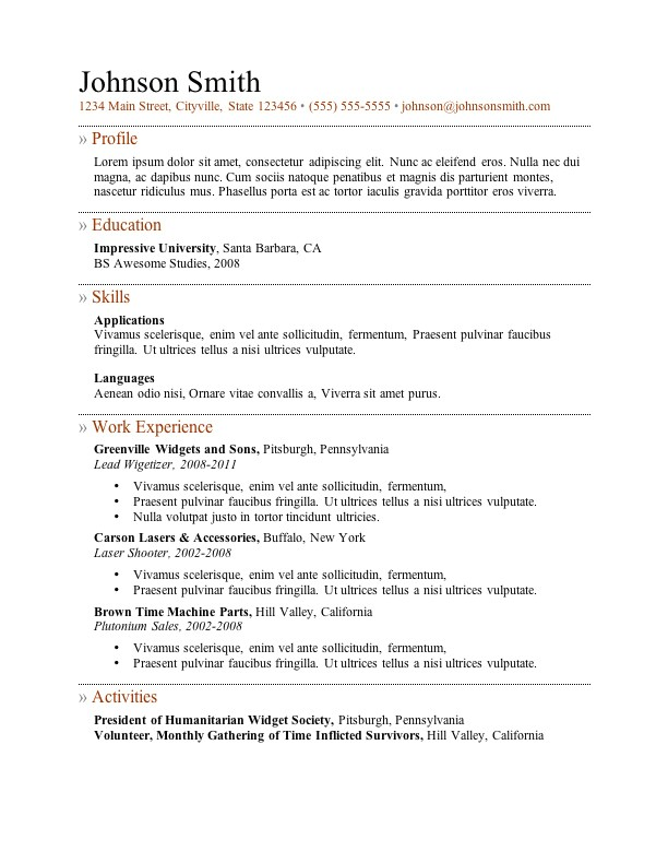 best resume templates cv layout free