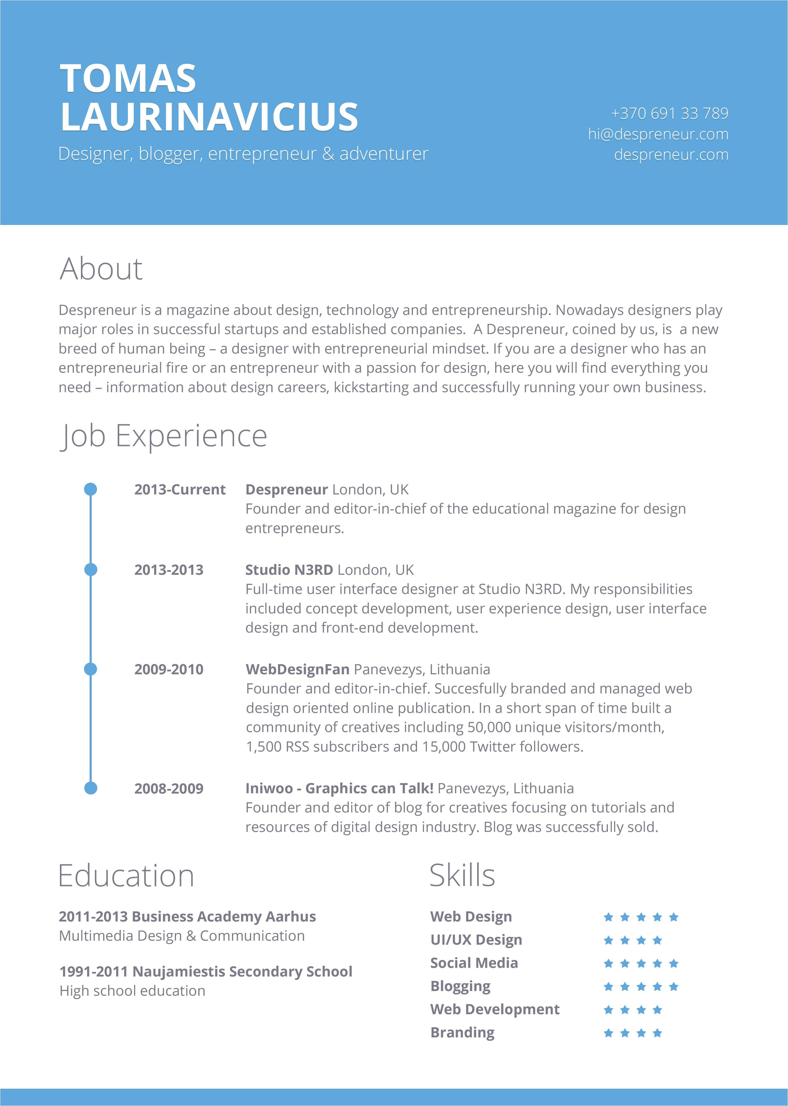 Free Resume format Template 40 Resume Template Designs Freecreatives
