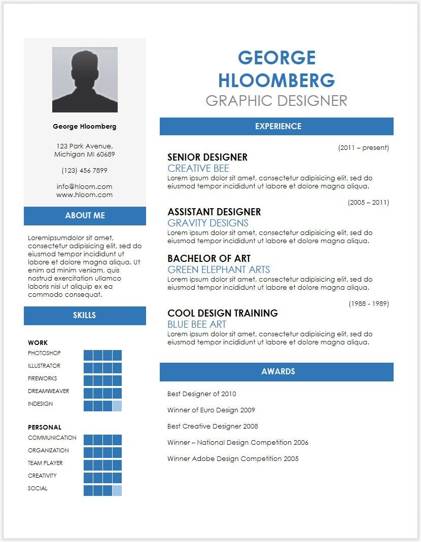 Free Resume Template Doc 12 Free Minimalist Professional Microsoft Docx and Google