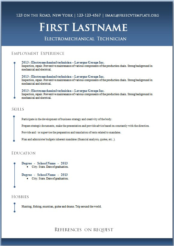 Free Resume Template Word Download 50 Free Microsoft Word Resume Templates for Download