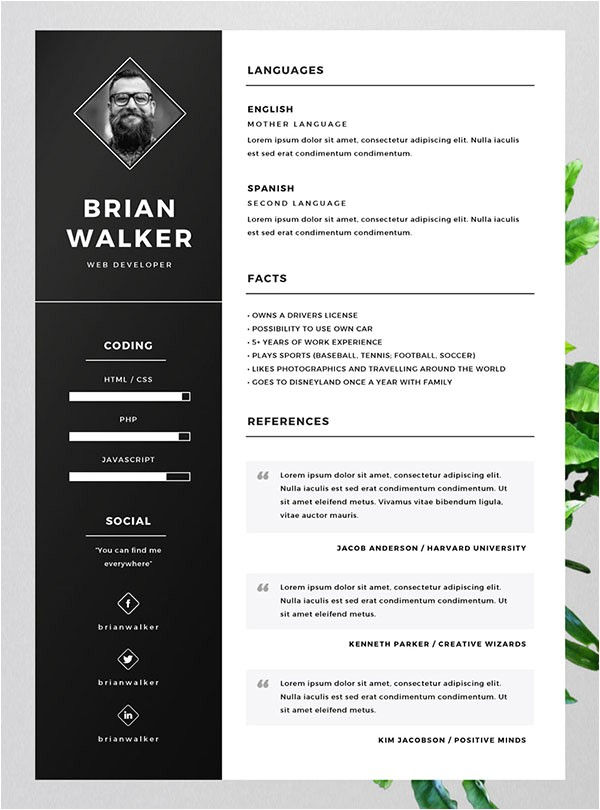Free Resume Templates Design 10 Best Free Resume Cv Templates In Ai Indesign Word