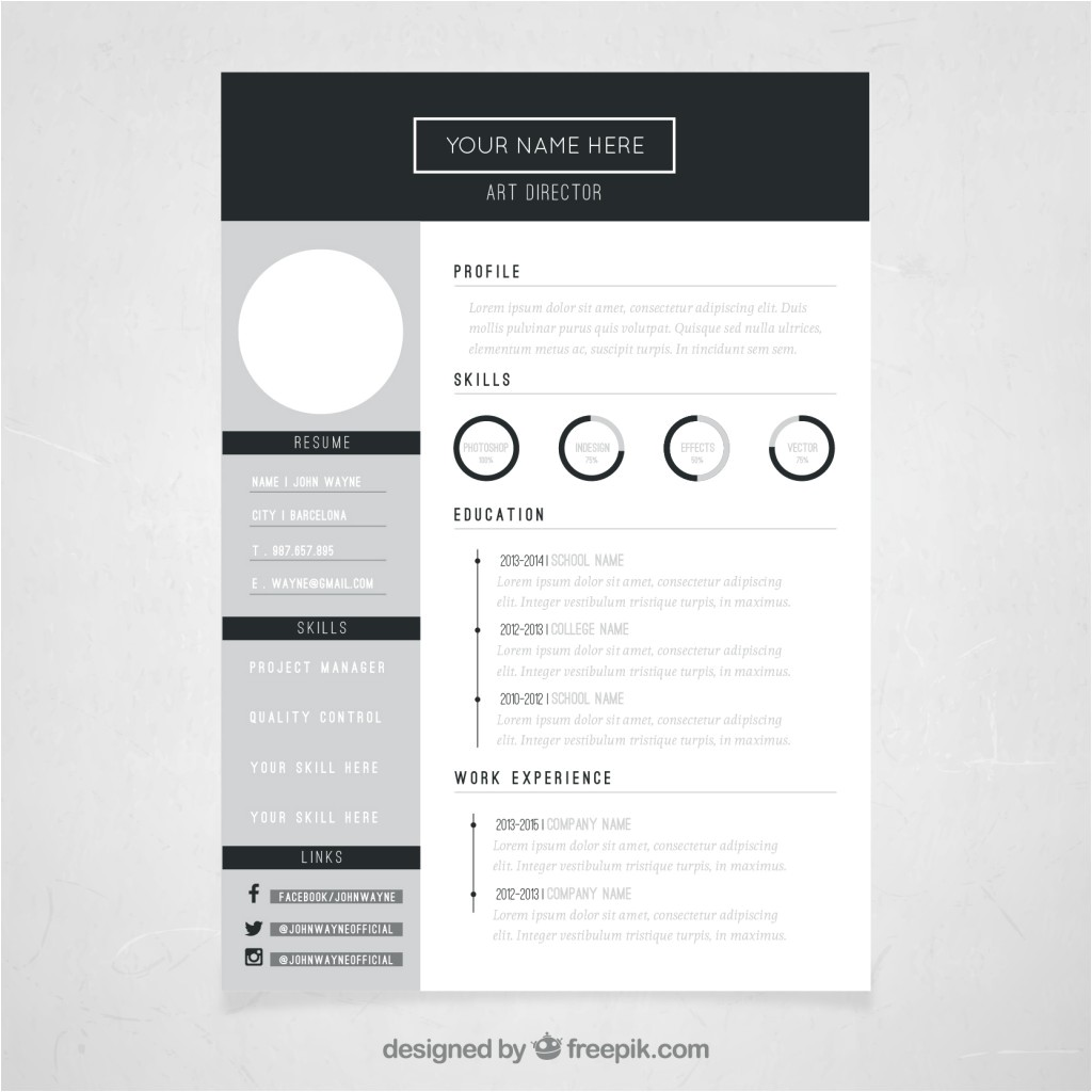 Free Resume Templates Design 10 top Free Resume Templates Freepik Blog