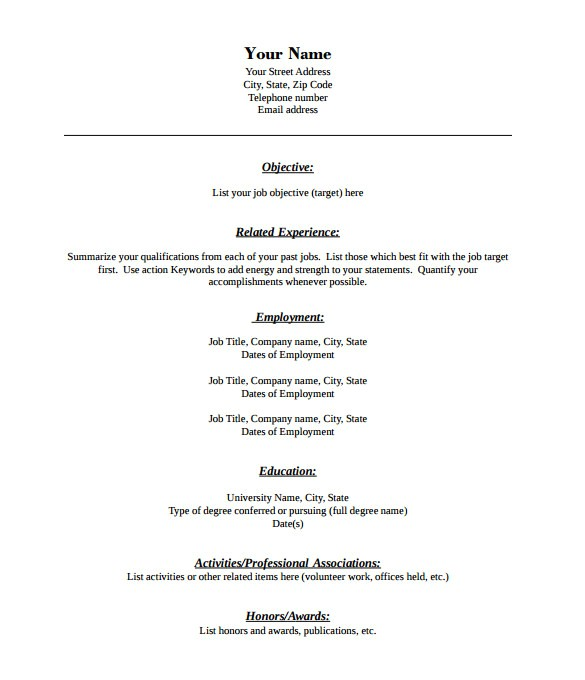 Free Resume Templates Download Pdf 46 Blank Resume Templates Doc Pdf Free Premium