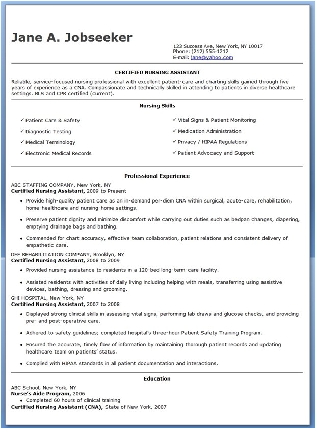 Free Resume Templates for Certified Nursing assistant Free Sample Certified Nursing assistant Resume Resume