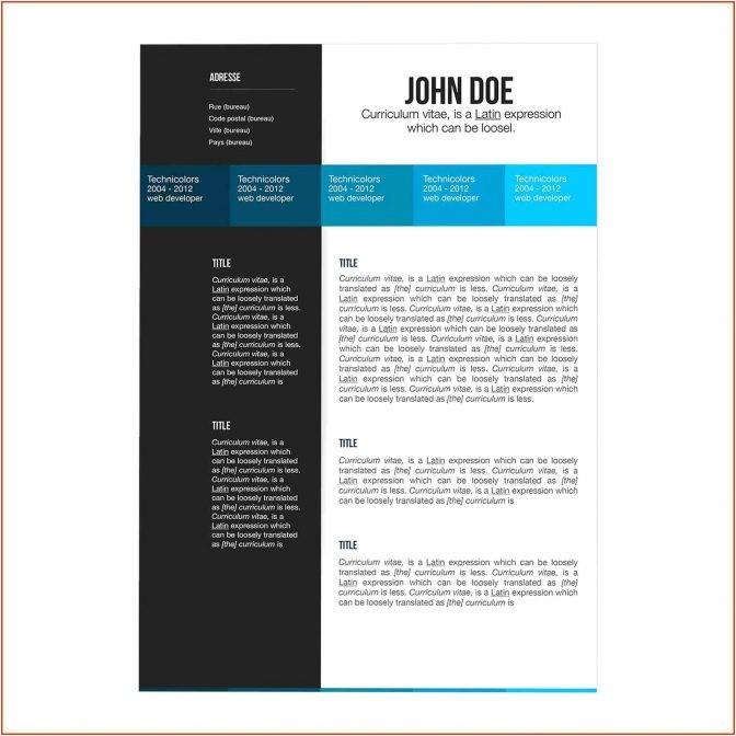 free resume templates macbook pro