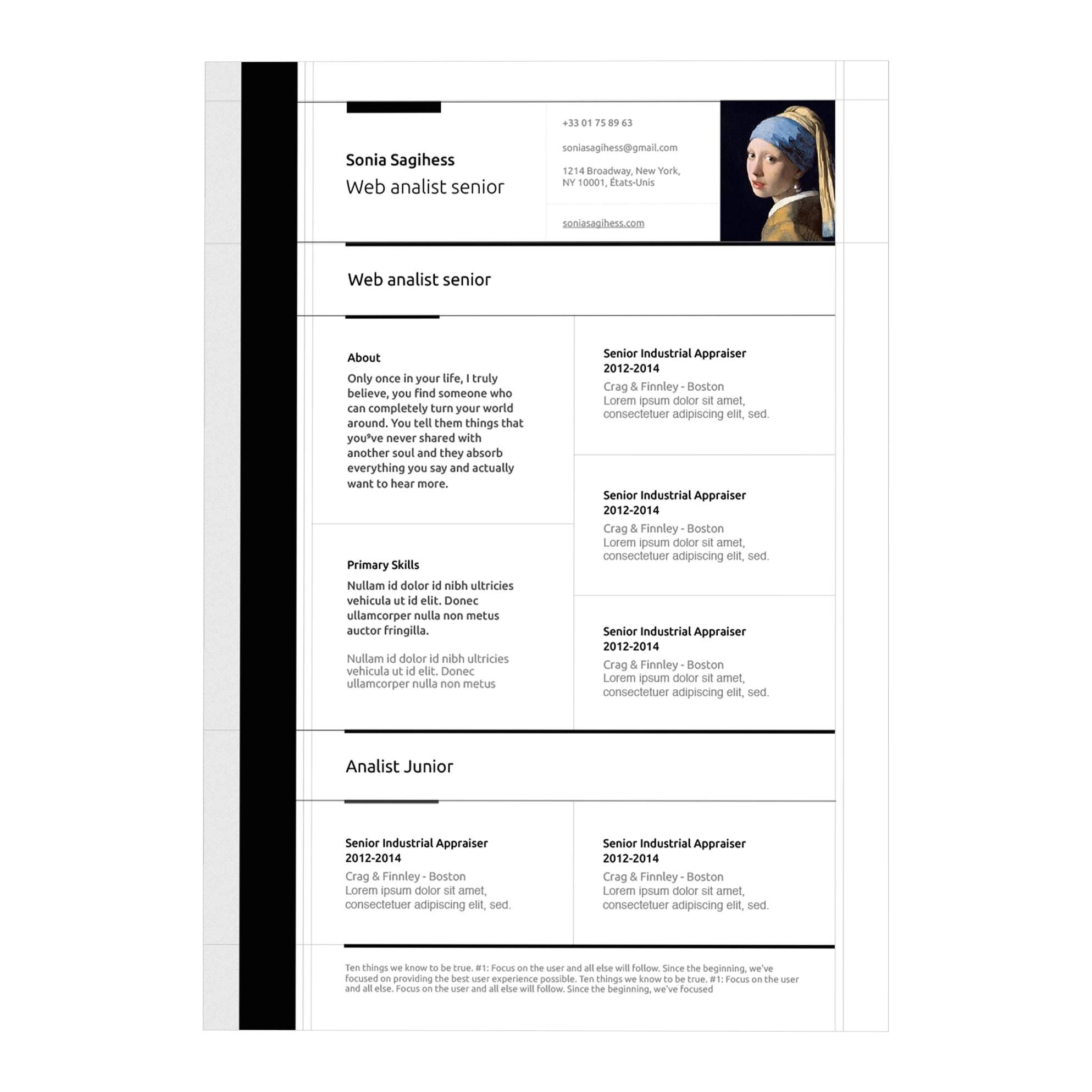 macbook pro resume template