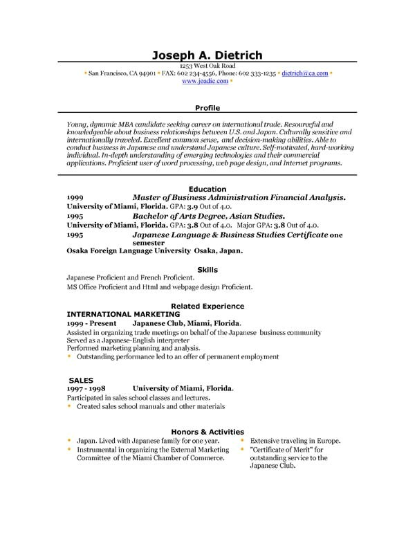 free resume template downloads