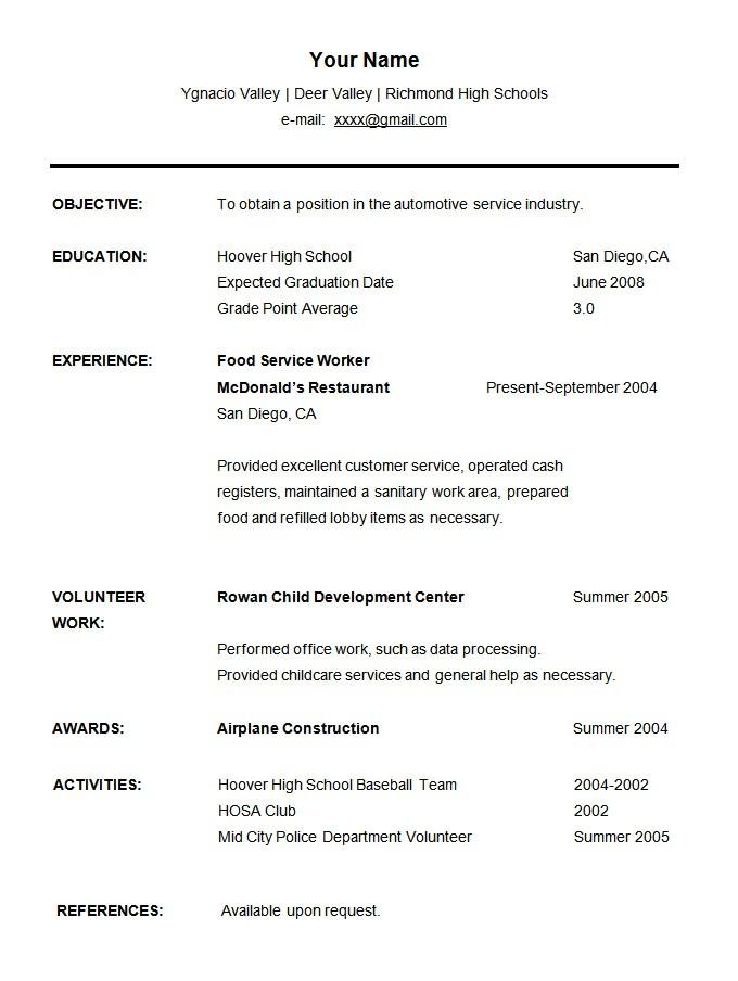Free Resume Templates for Students 36 Student Resume Templates Pdf Doc Free Premium
