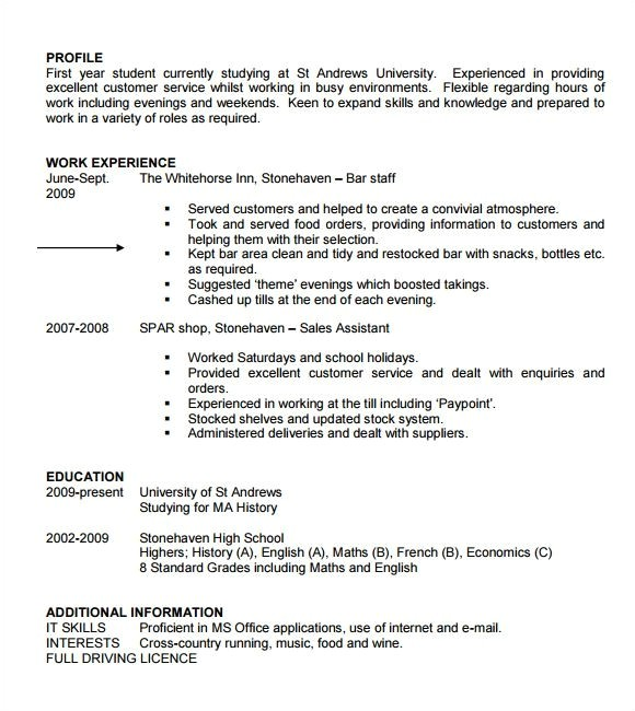 Free Resume Templates for Students Free Student Resume Templates Best Resume Collection