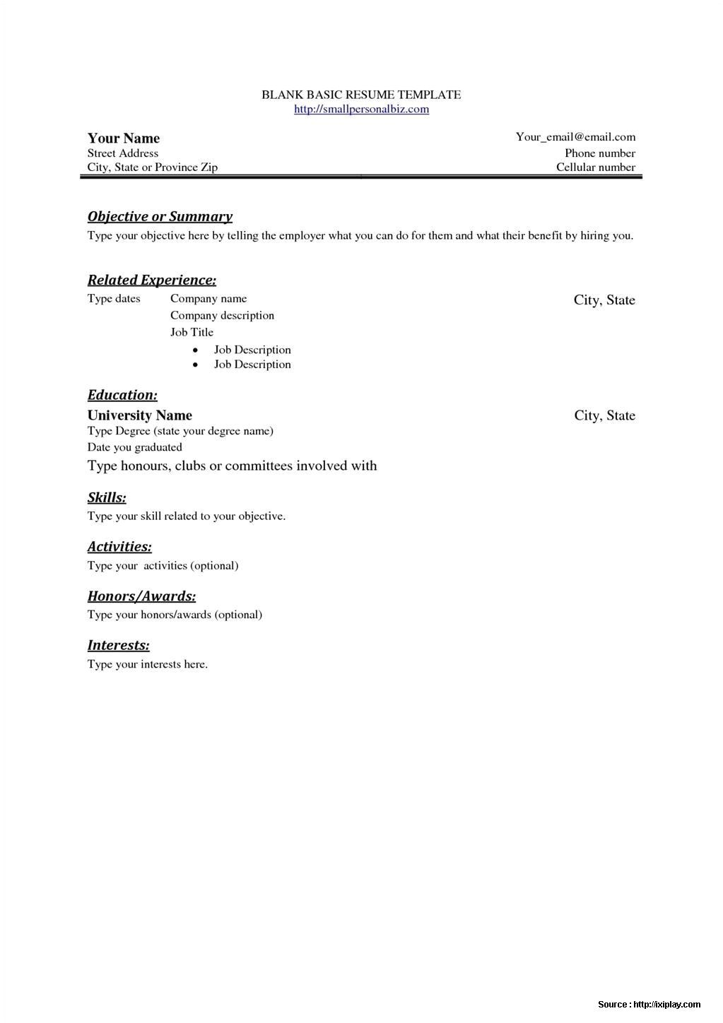 Free Resume Templates for Word Starter 2010 Free Resume Templates for Word Starter 2010 Resume