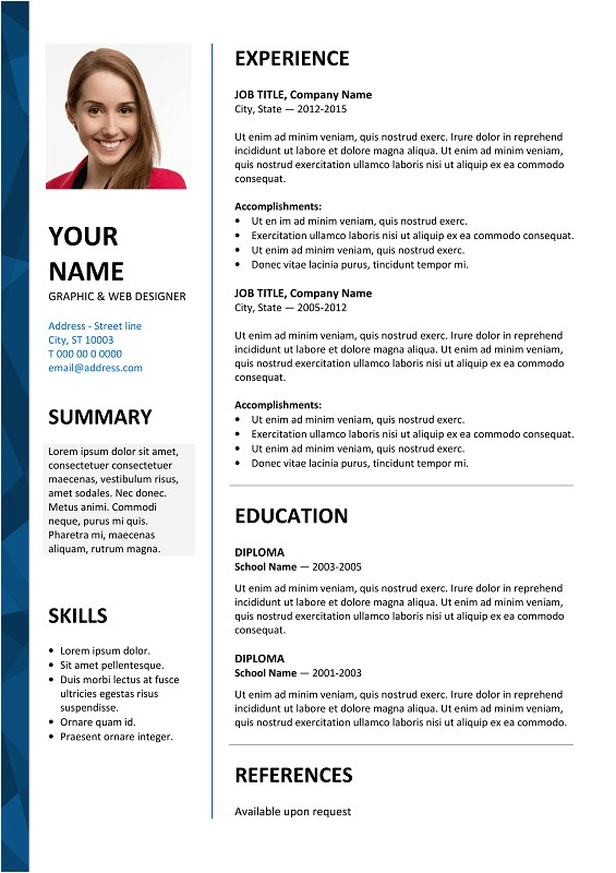 Free Resume Templates In Word Dalston Free Resume Template Microsoft Word Blue Layout