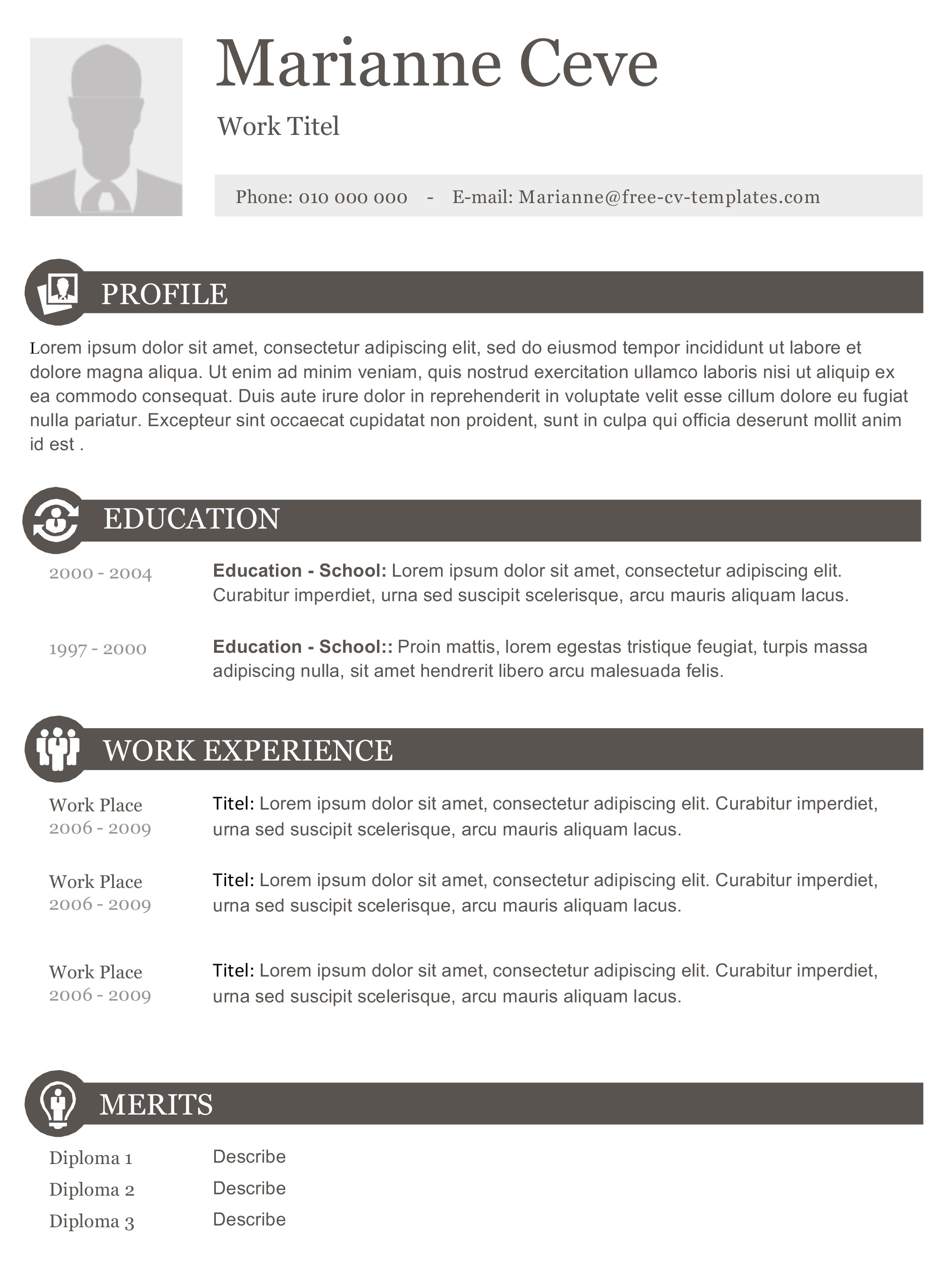 Free Resume Templates No Charge Marianne Elegant Modern and Creative Resume Template