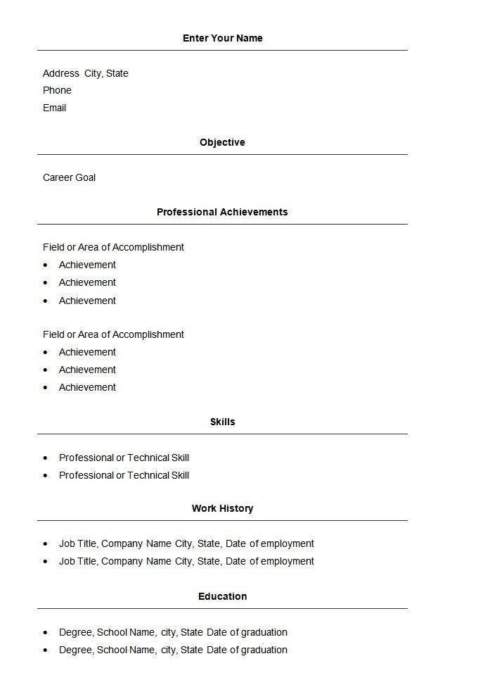 resume template easy 470