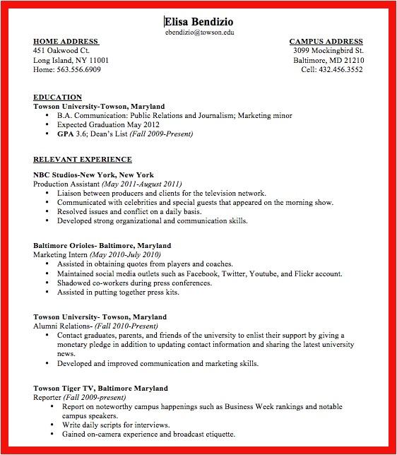 resume for sorority rush