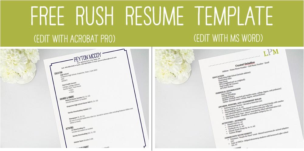 rush 101 perfecting your resume