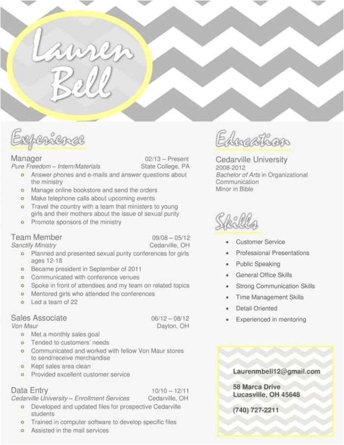 sample sorority rush resume