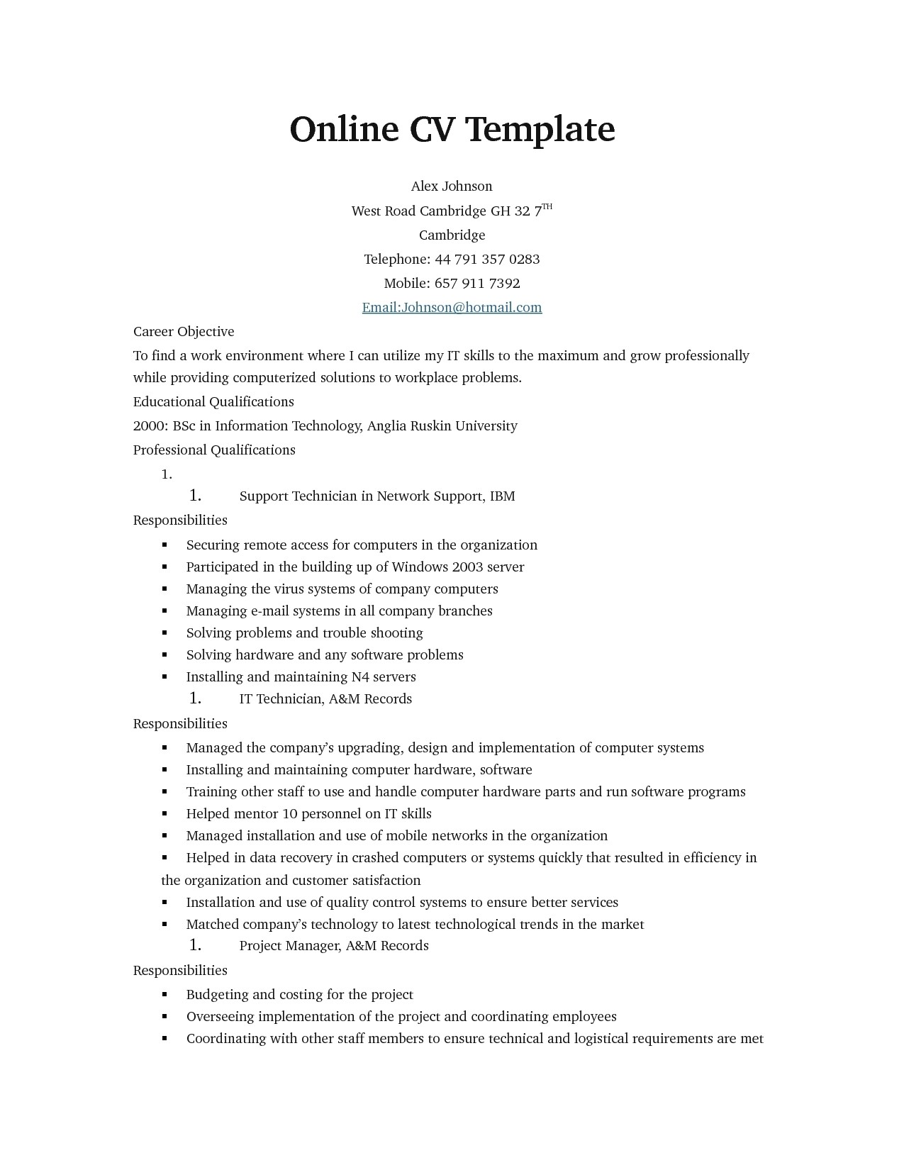 Free Sample Resume Templates Online Resume Templates Health Symptoms and Cure Com