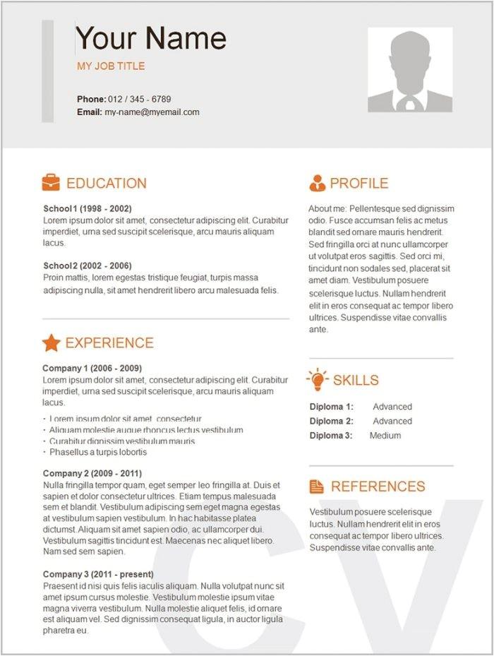 11730 free printable functional resume templates