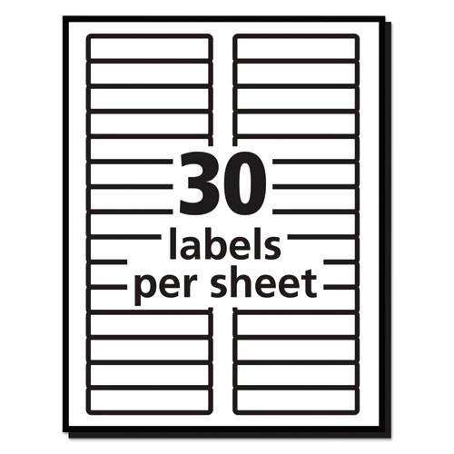 Free Template for Avery 5366 File Folder Labels Permanent File Folder Labels Trueblock Inkjet Laser Red