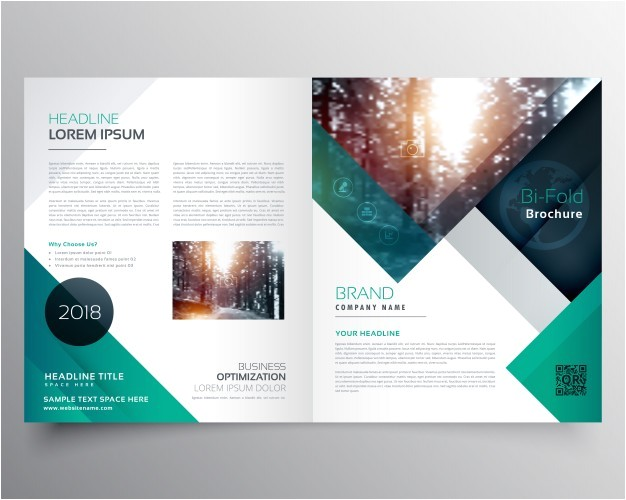 Free Template to Make A Brochure Green Business Brochure Template Vector Free Download