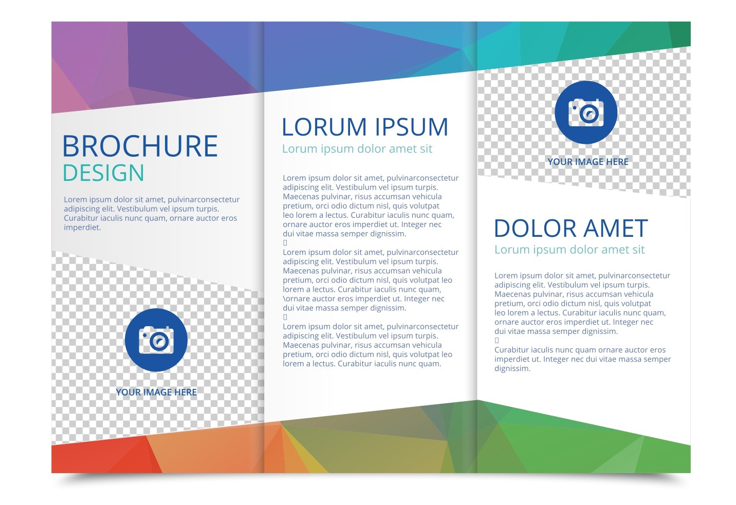 Free Template to Make A Brochure Tri Fold Brochure Vector Template Download Free Vector