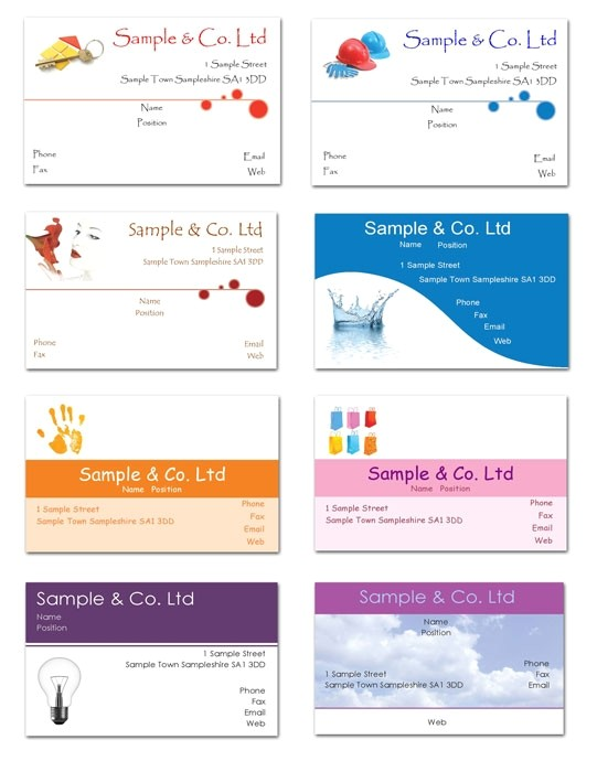 free business cards templates to print at home