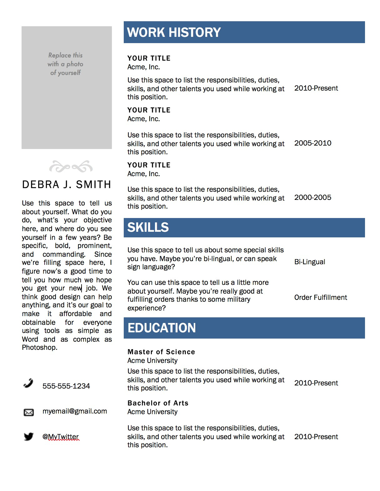 Free Templates for Resumes On Microsoft Word Free Microsoft Word Resume Template Superpixel
