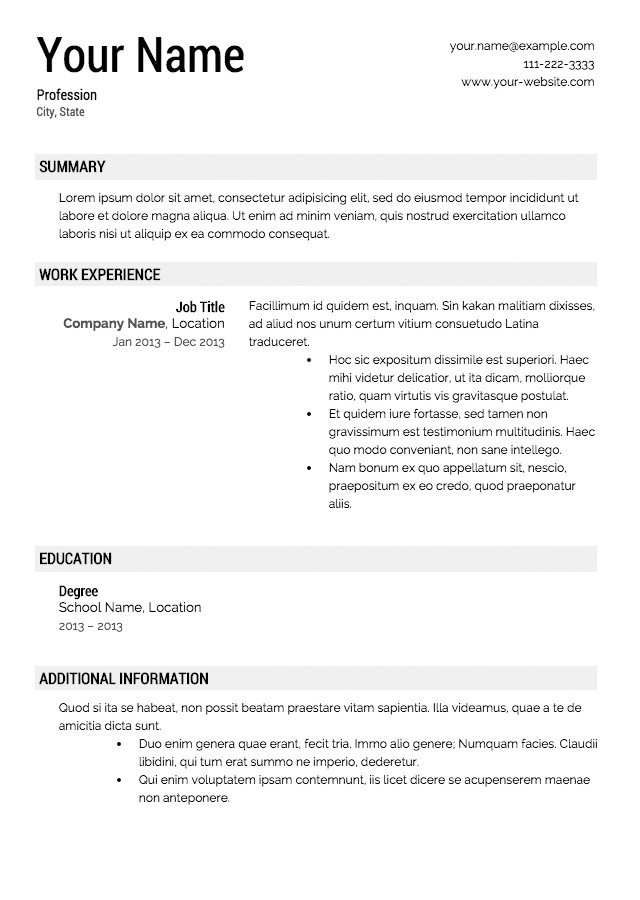 Free Templates for Resumes to Print Free Resume Templates Download From Super Resume