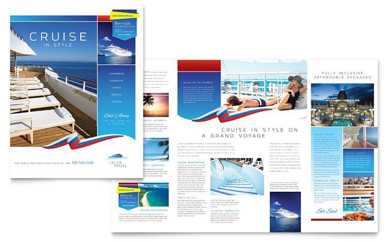 cruise travel brochure templates tr0120101d