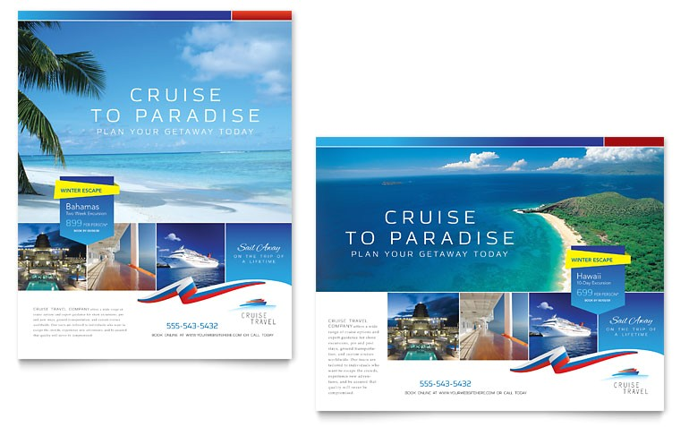 cruise travel poster templates tr0120601d