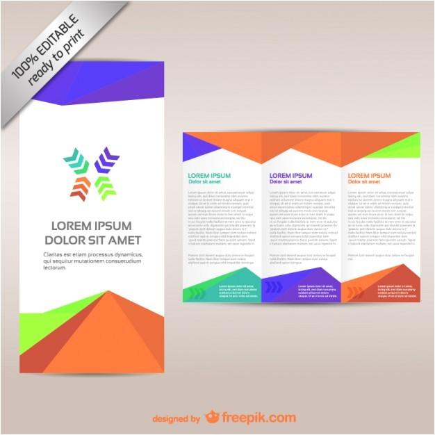 colorful tri fold brochure template 719245