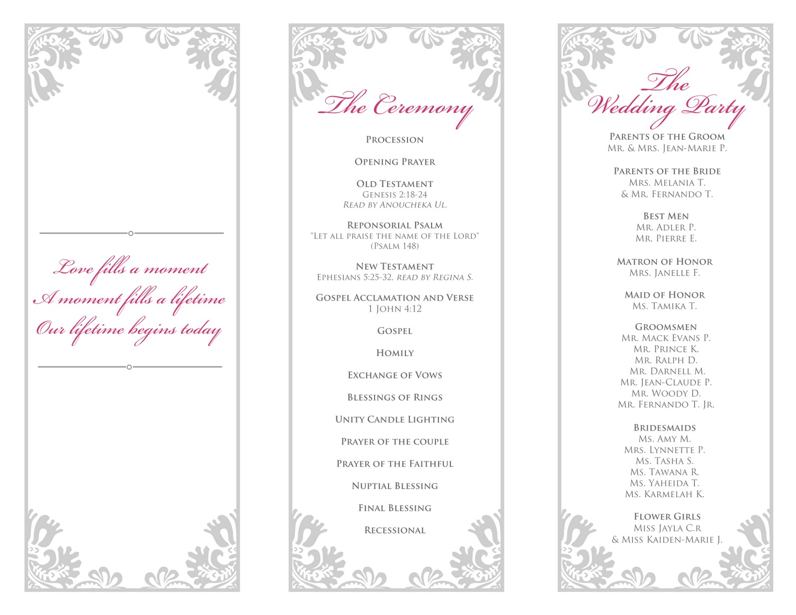 28 images of 2 fold wedding program template free download 22