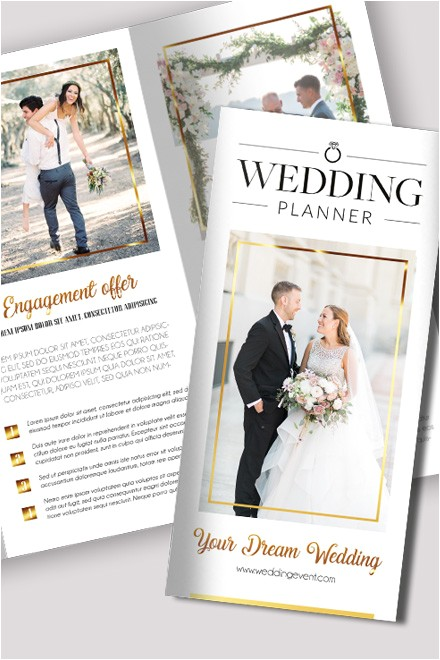 wedding free psd tri fold brochure template