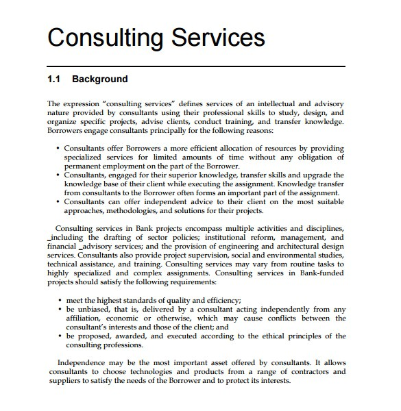 free consulting proposal template free consulting proposal template sample consultant proposal 9