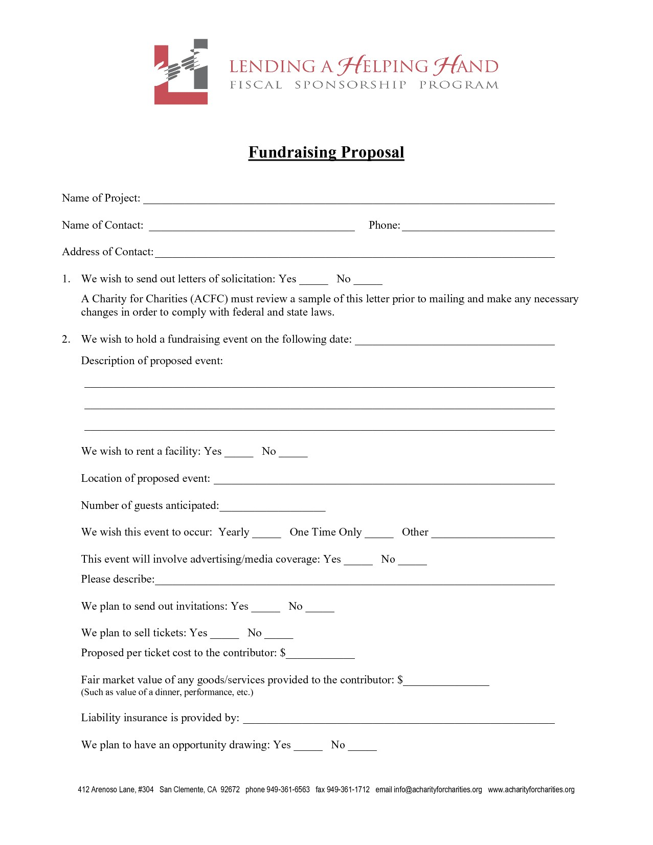 1571 fundraising proposal template