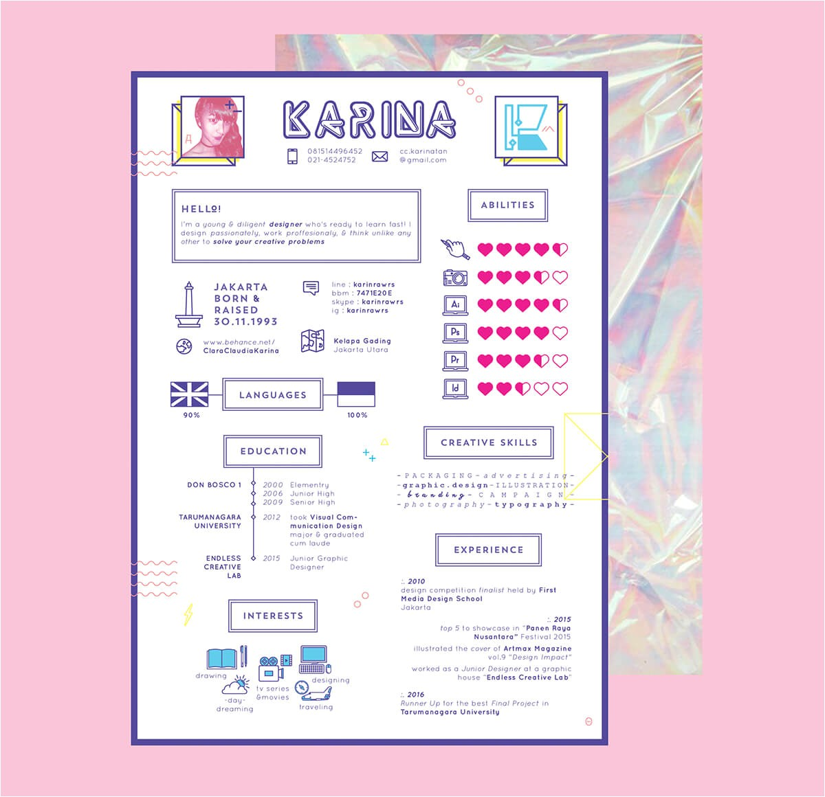 Girly Resume Templates 10 Creative Cv Designs to Inspire Your Job Search In 2017