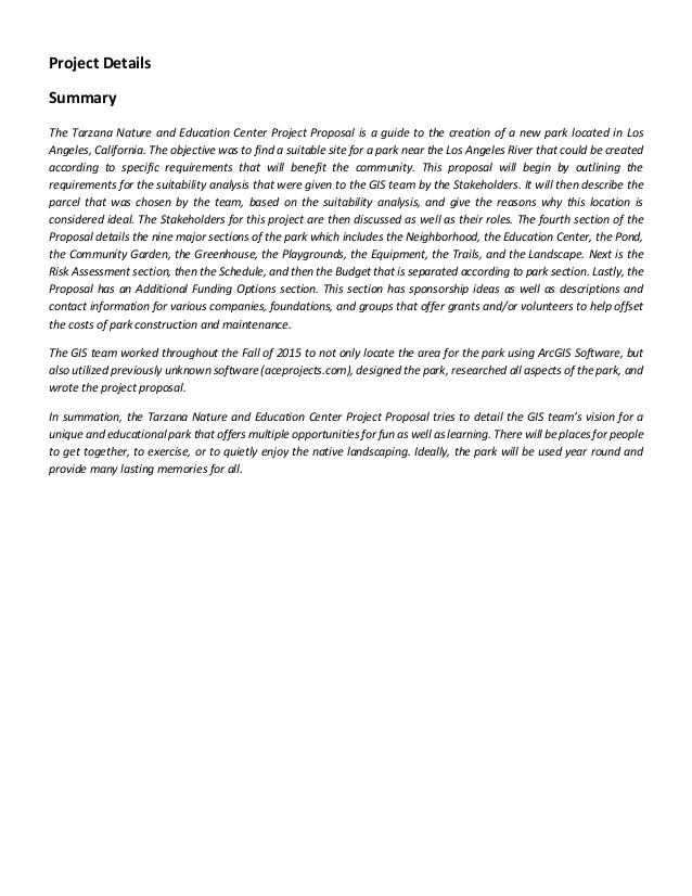 gis 165 tarzana nature education center project proposal final 1